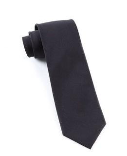Solid Cotton Black Tie