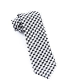 New Gingham Black Tie