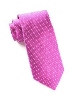 Pindot Magenta Tie