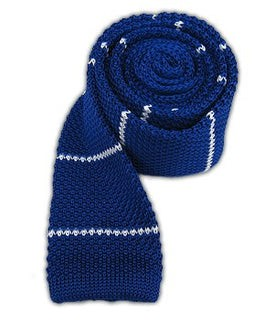 Knit Stripe Royal Tie