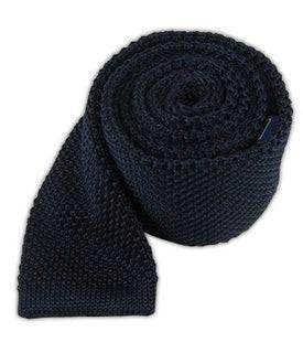 Knitted Midnight Navy Tie