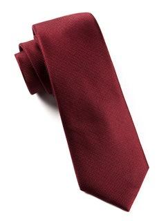 Solid Texture Burgundy Tie