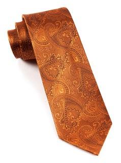 Twill Paisley Burnt Orange Tie