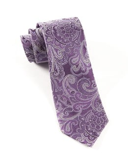Designer Paisley Eggplant Tie
