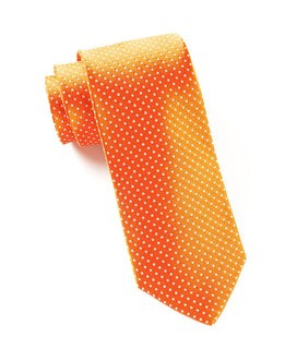 Pindot Tangerine Tie