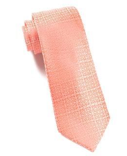 Opulent Coral Tie
