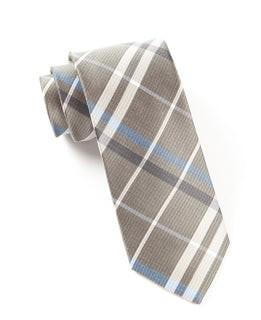 Barnegat Plaid Light Taupe Tie