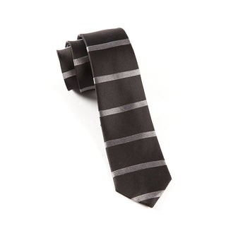 Road Horizontal Stripe Black Tie