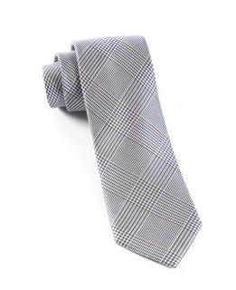 Glen H. Plaid Grey Tie