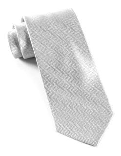 Herringbone Platinum Tie