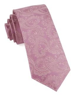 Twill Paisley Dusty Rose Tie