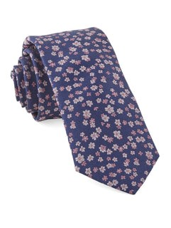 Free Fall Floral Purple Tie