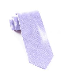 Herringbone Lilac Tie