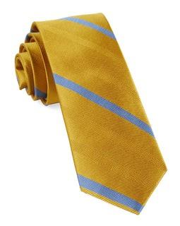 Goal Line Stripe Yellow Gold Tie