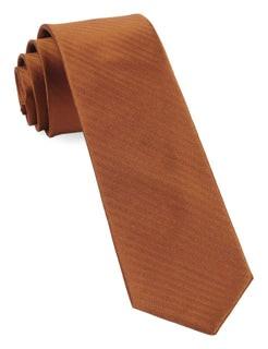 Sound Wave Herringbone Burnt Orange Tie