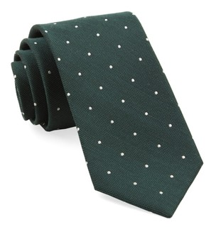 Dotted Report Hunter Green Tie