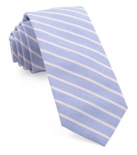 Marina Stripe Coral Tie