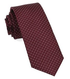 Mini Dots Wine Tie