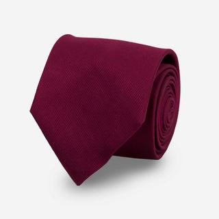 Grosgrain Solid Wine Tie