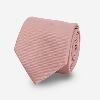 Grosgrain Solid Mauve Stone Tie