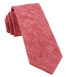 Freehand Solid Red Tie
