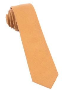 Solid Wool Mustard Tie