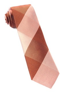 West Bison Plaid Orange Tie