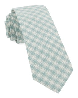 Mesh Plaid Mint Tie