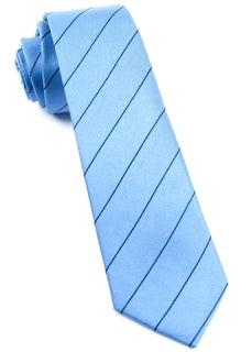 Pencil Pinstripe Light Blue Tie