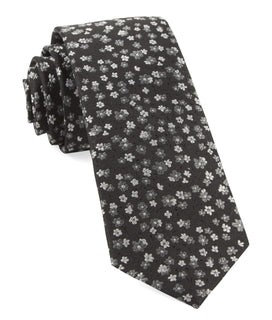 Free Fall Floral Black Tie
