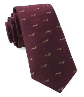 Dog Days Burgundy Tie