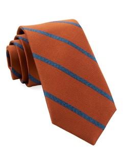 Wheelhouse Stripe Burnt Orange Tie