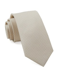 Dotted Spin Light Champagne Tie