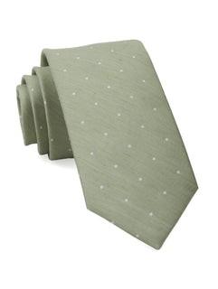 Bulletin Dot Sage Green Tie