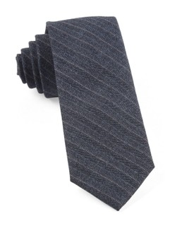 Assembly Of Stripes Whale Blue Tie
