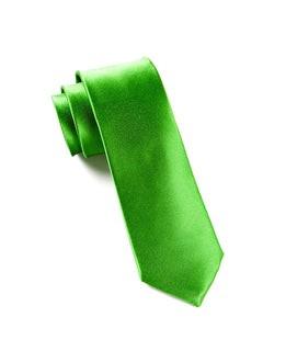 Solid Satin Kelly Green Tie