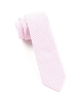 Seersucker Baby Pink Tie