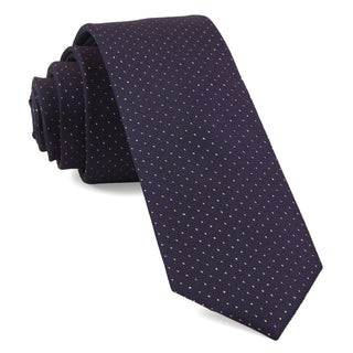 Flicker Eggplant Tie