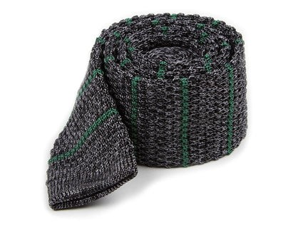 Scramble Knit Stripe Hunter Green Tie