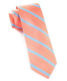Trad Stripe Coral Tie