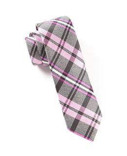 Winter Plaid Pinks Tie