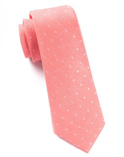 Dotted Dots Coral Tie