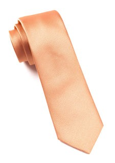 Grosgrain Solid Peach Tie