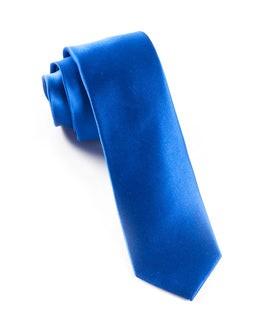 Solid Satin Royal Blue Tie