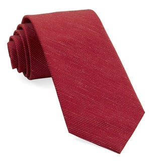 Fountain Solid Red Tie