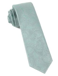 Twill Paisley Spearmint Tie