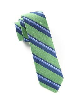 Social Stripe Kelly Green Tie