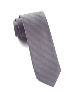 Invisible Stripe Silver Tie