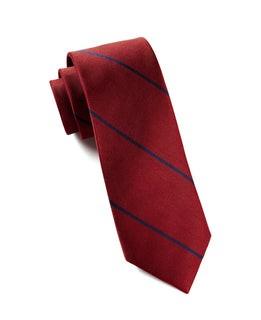 Delta Stripe Red Tie