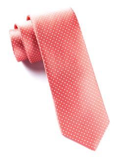 Pindot Coral Tie
